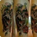 Эскизы тату в стиле old school. Традиционный стиль тату на теле.