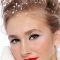 Классический макияж с красными оттенками помады