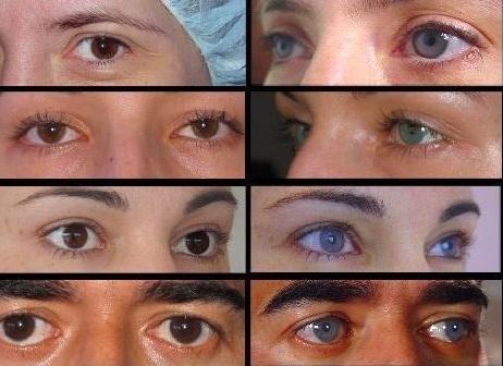 изменить цвет глаз на фото: